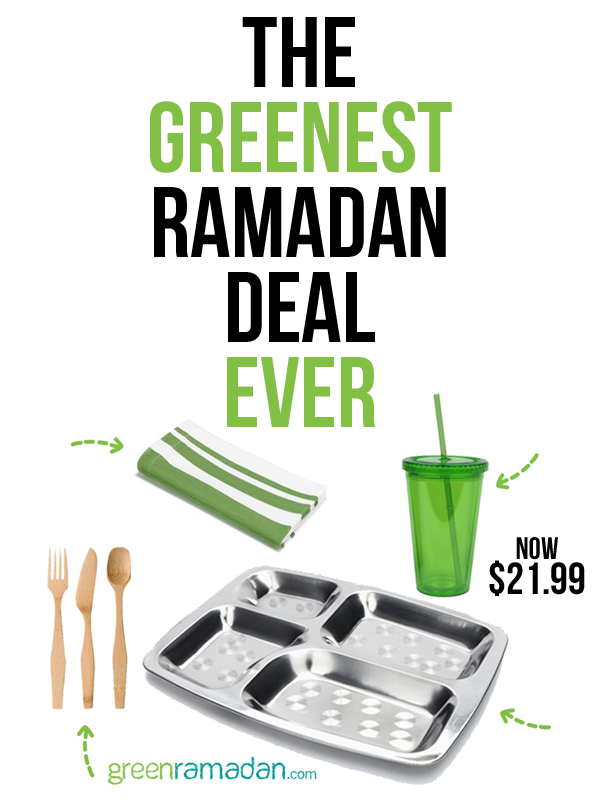 Green Ramadan Zero Trash Iftar Kit $21.99